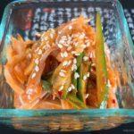 韓国風豚耳のあえ物 (Korean Style Pork Ears Salad)