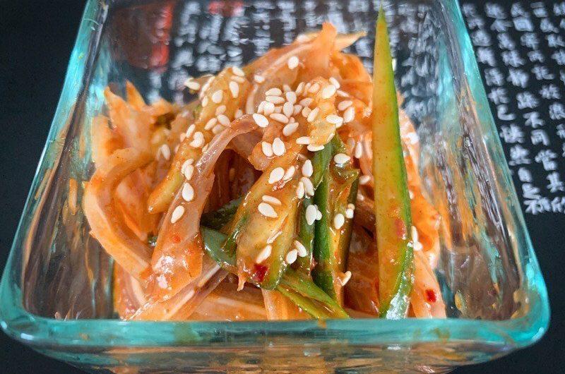 韓国風豚耳のあえ物 (Korean Style Pork Ears Salad) – Ontama Kitchen
