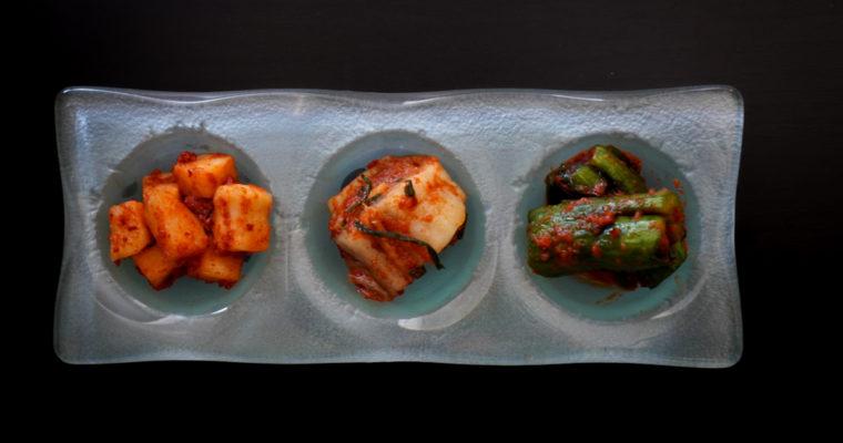 キムチ三種 (Three types of Kimchi)