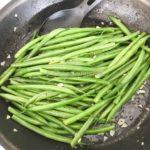 さやいんげんのレモン&ガーリック炒め (Fried Green Bean with Lemon Butter and Garlic)